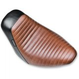 BROWN BLACK PLEATED BARE BONES SOLO SEAT