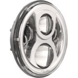 "HEADLIGHT 8700 LED ECE 7"" chrome EC"