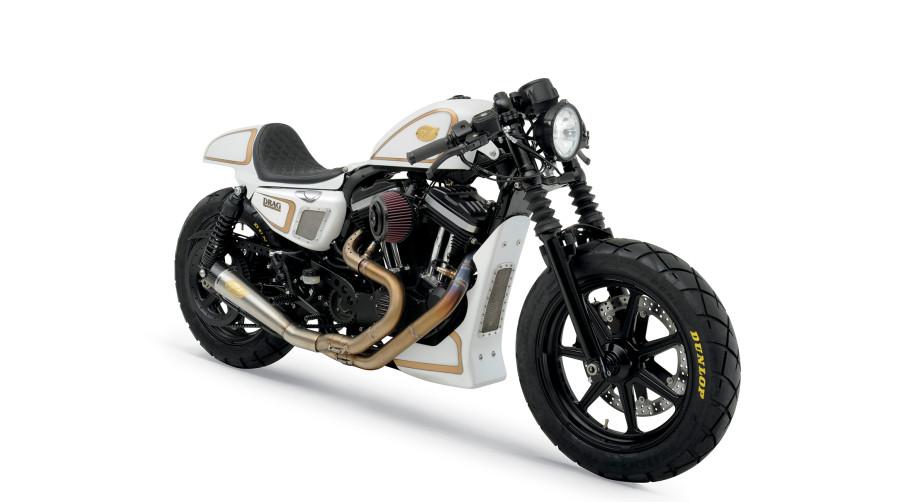 Cafe Racer Mit Harley Auspuff